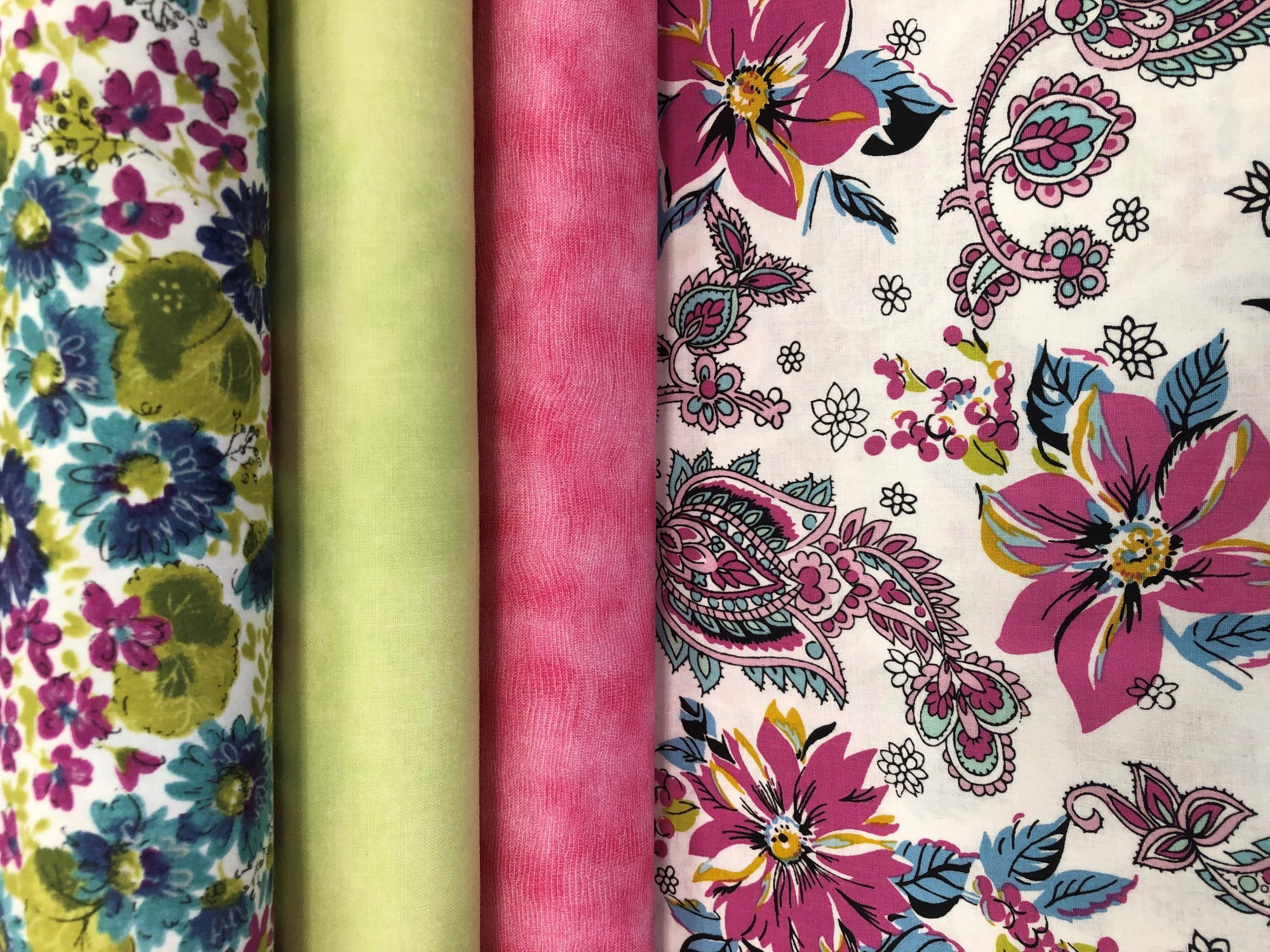 Cassandra Floral Fabric Kit Raspberry