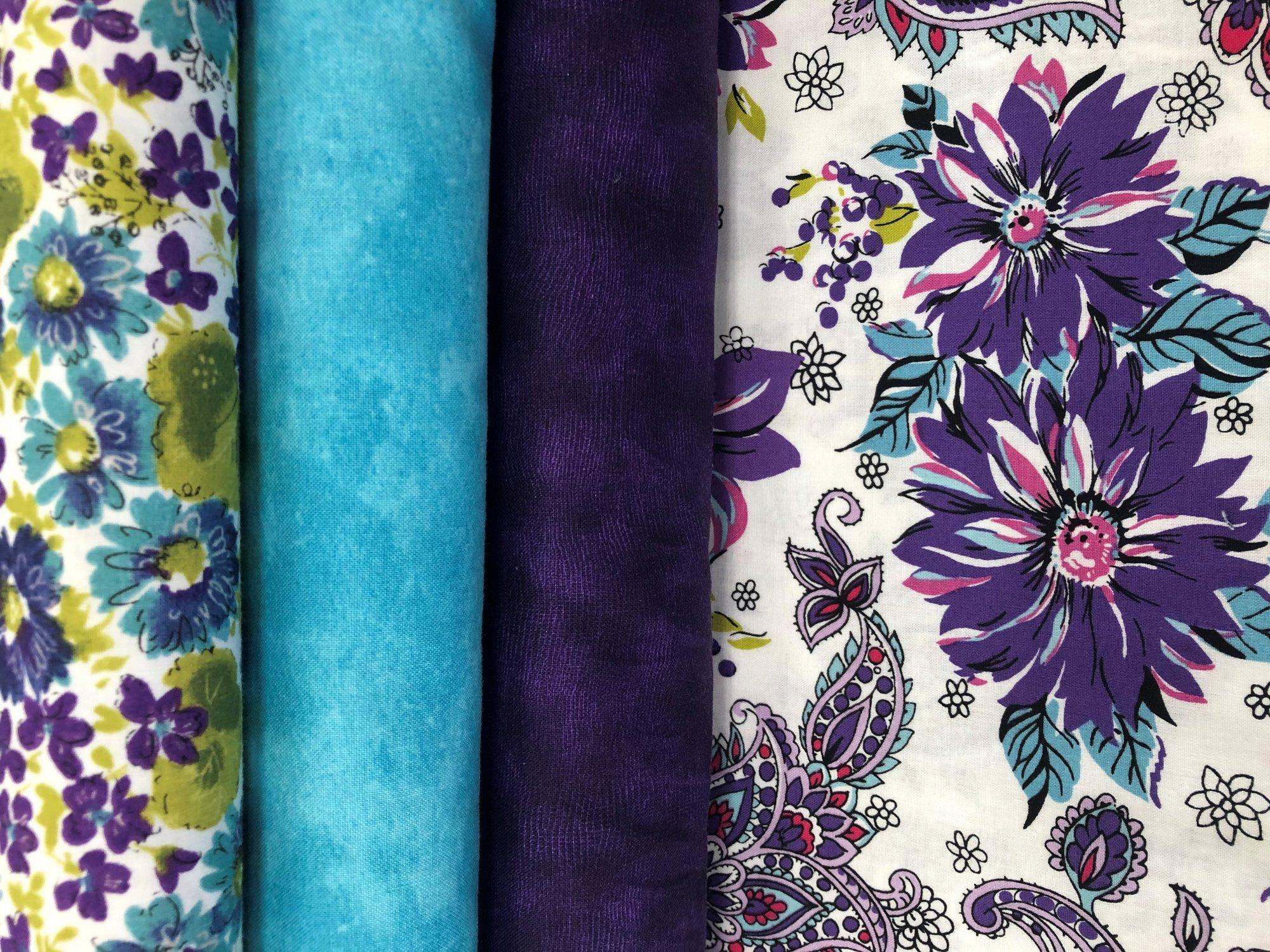 Cassandra Floral Fabric Kit Purple