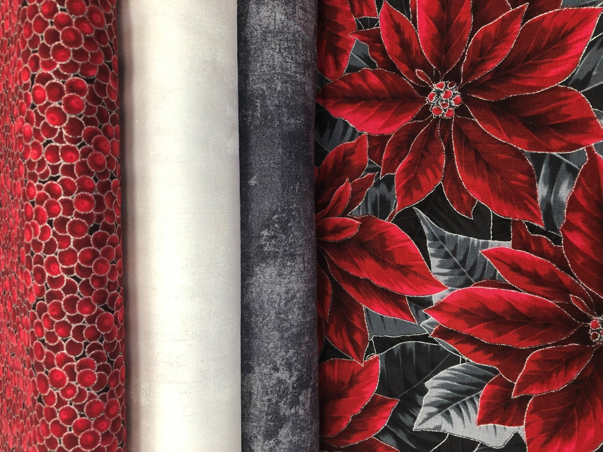 Christmas Poinsettia Fabric Kit