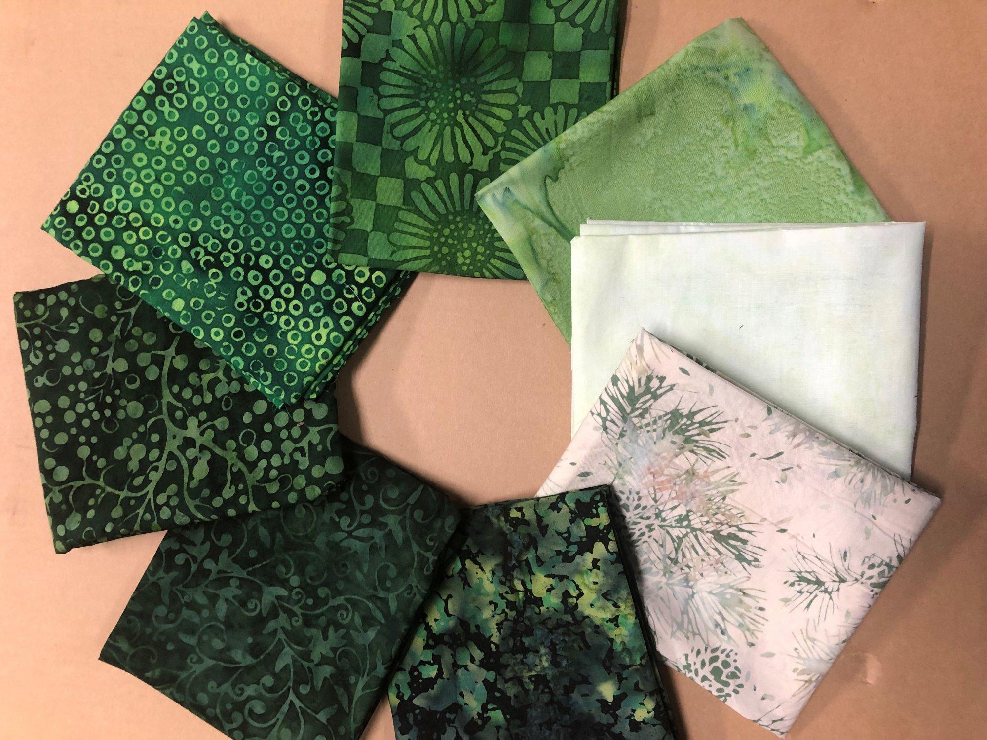 Batik FQ Bundle - Green (8FQs)
