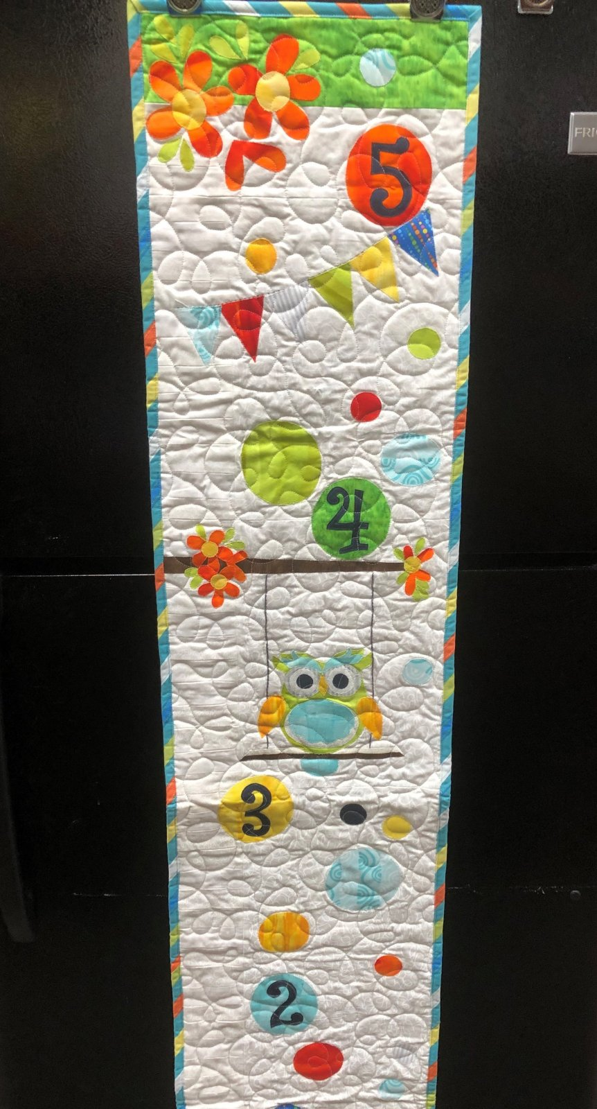 Growth Chart Quilt Sample 12 x 60