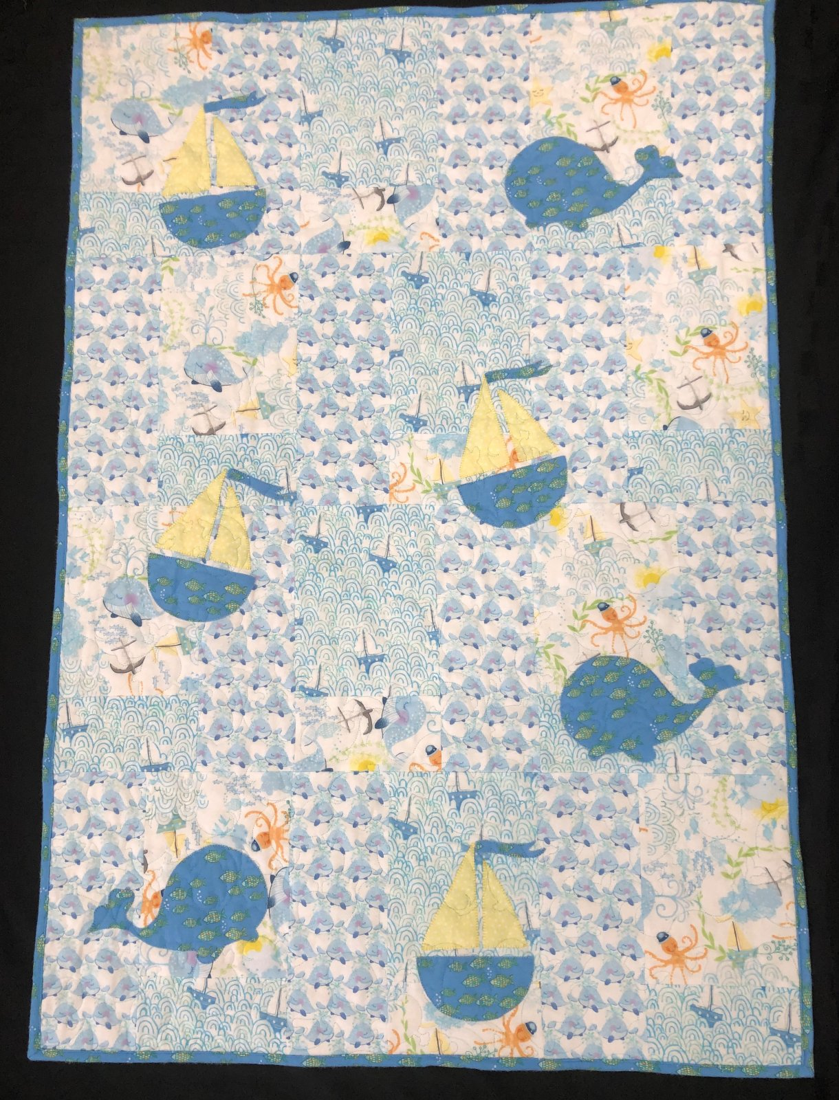 Itty Bittys Whale Quilt