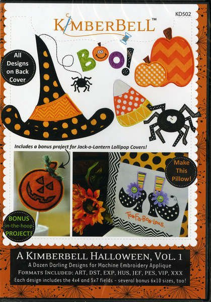 A Kimberbell Halloween Volume 1 Embroidery CD