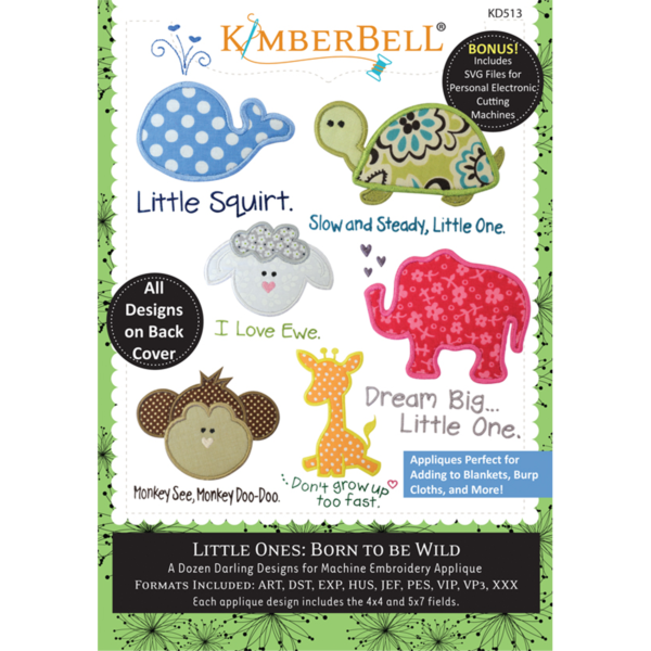 Kimberbell Little Ones Volume 1: Born to be Wild Embroidery CD