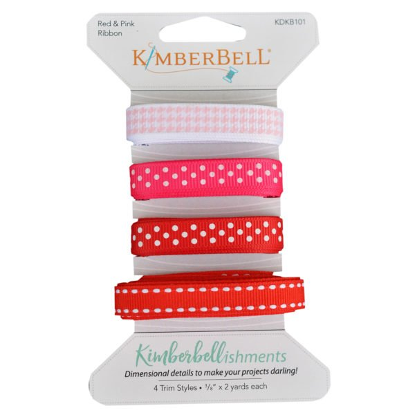 Kimberbellishments Red & Pink Ribbon Set