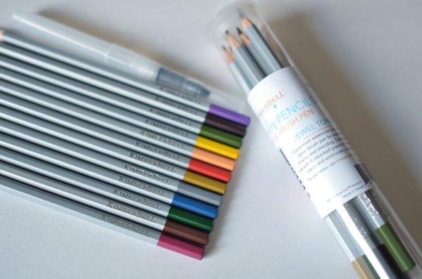 Watercolor Pencil Set Jewel Tones