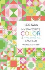 My Favorite Color is Moda Pattern