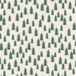 RP604-Si3M Holiday Classics - Fir Trees - Silver Metallic