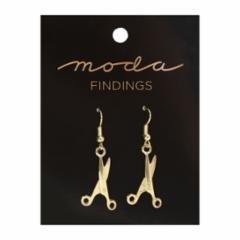 Earrings Scissor Gold