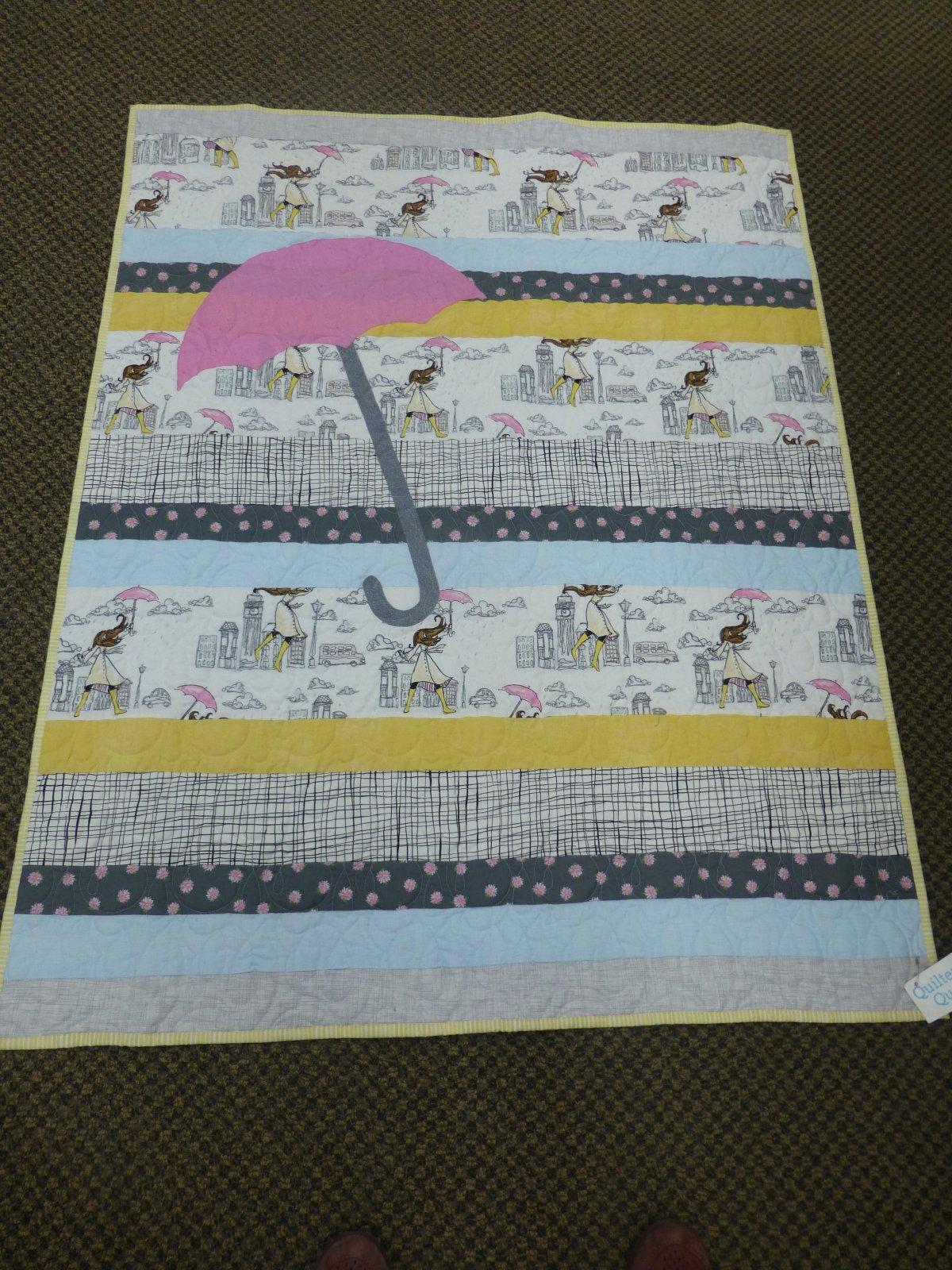 Umbrella Strip Quilt 40 x 50