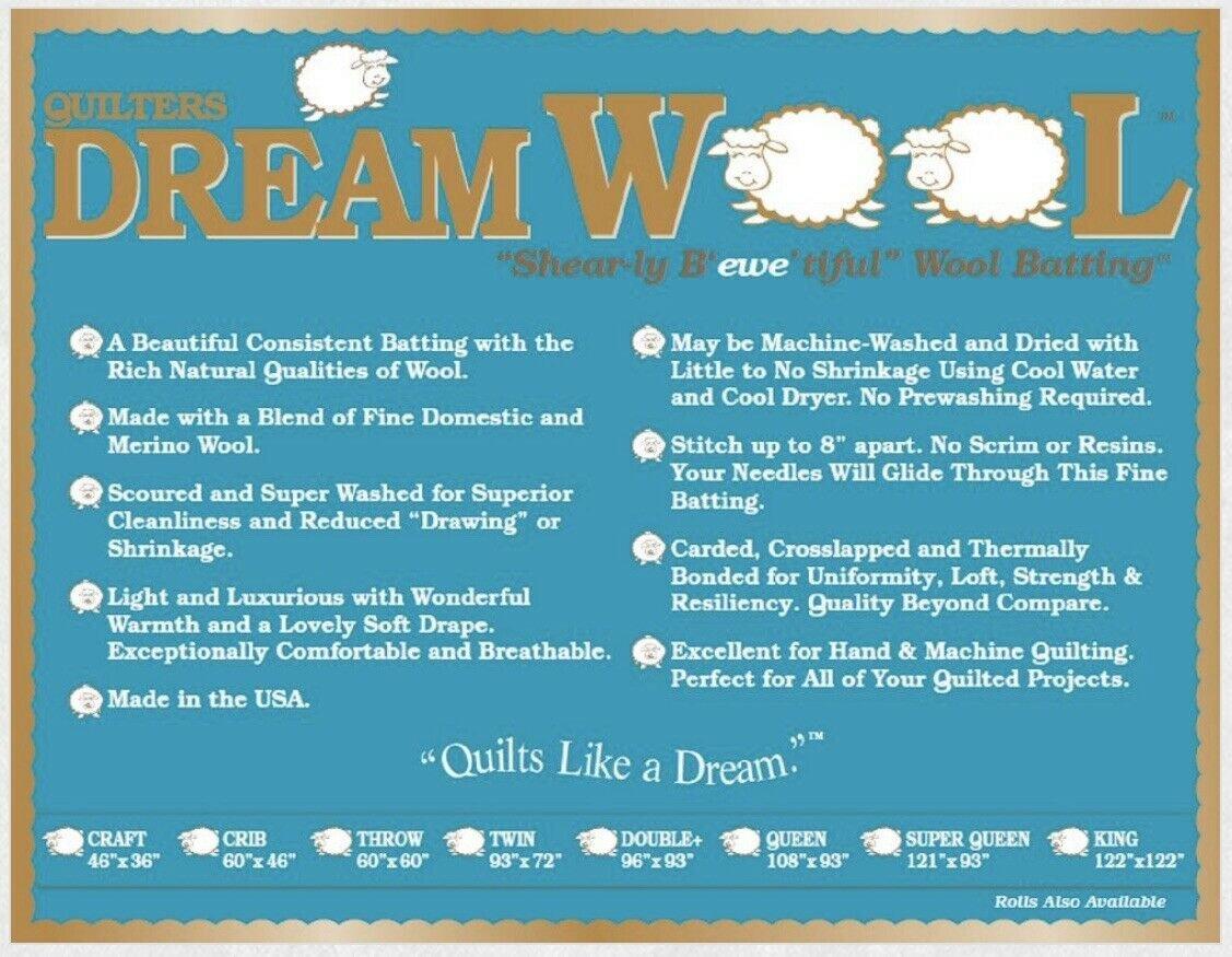 Queen Dream Wool Batting