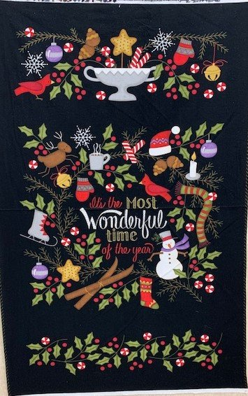 Most Wonderful Time Panel - Flannel