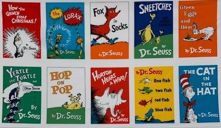 Seuss Book Covers panel