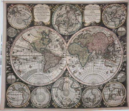 Vintage Blueprint Digital Map