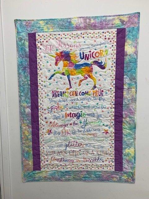 Unicorn quilt kit