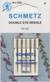 Schmetz Needle Double Eye 12/80