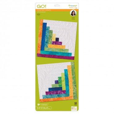 GO! Log Cabin 12 finished blocks by Leslie Mann