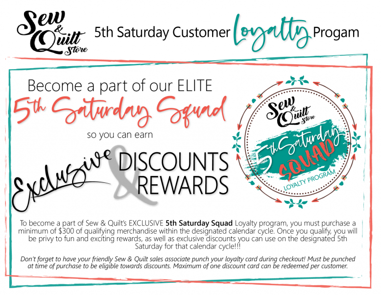 5th Saturday Sale Customer Loyalty Program