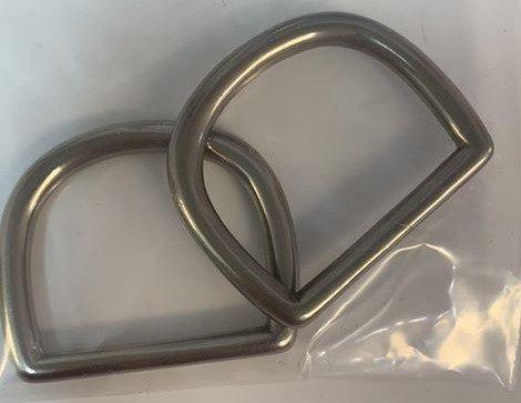 2 Ct D-Ring 2 Brushed Nickel