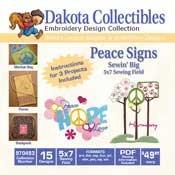 Dakota Collectibles Peace Signs 970453