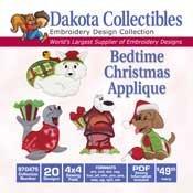 Dakota Collectibles Bedtime Christmas Applique 970475