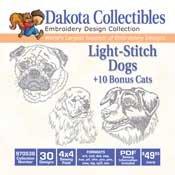 Dakota Collectibles Light-Stitch Dogs