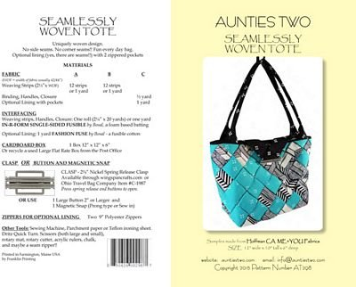 Aunties Two Seamlessly Woven Tote