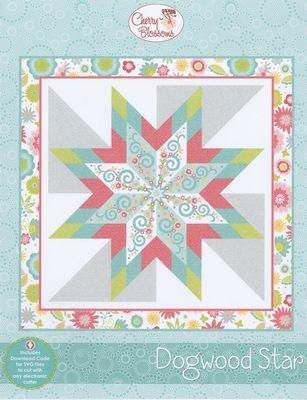 Dogwood Star Cherry Blossoms Quilt Pattern