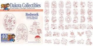 Dakota Collectibles Redwork Sewing Big #23
