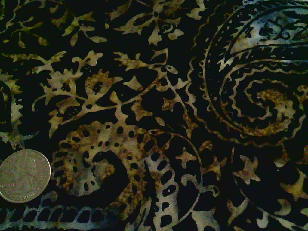 Midnight Paisley Batik
