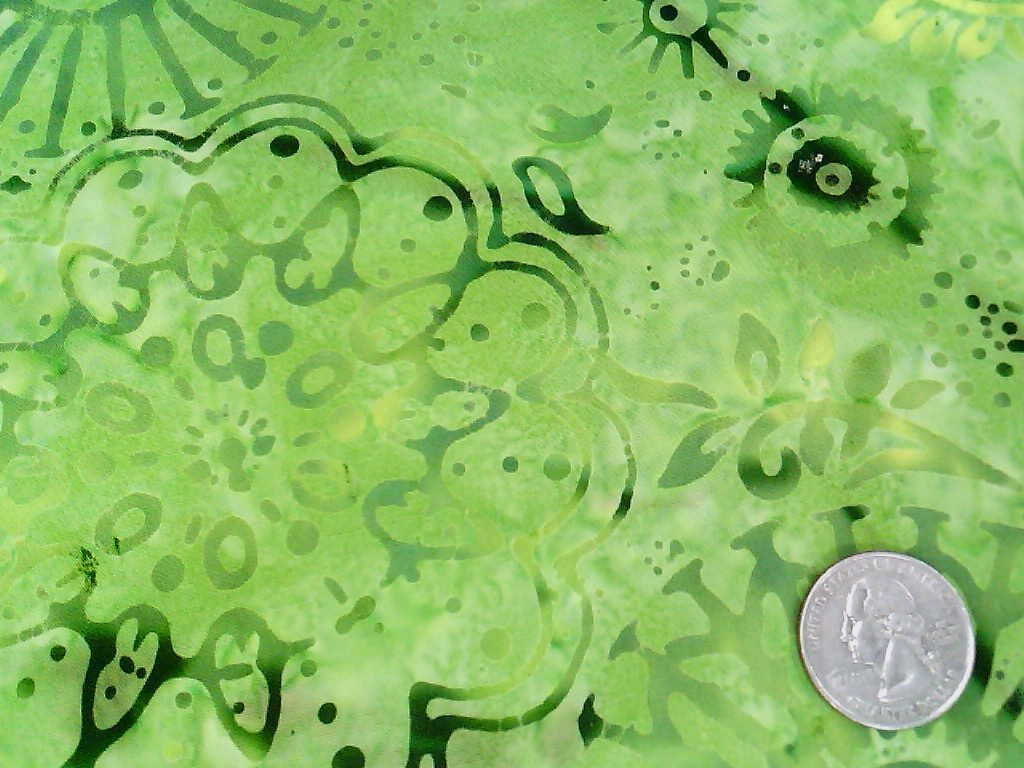 Galaxy Batiks - Green w/ circles