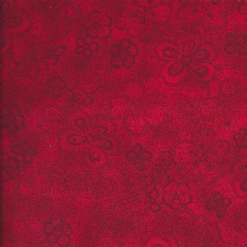 108 Isadora Quilt Backing Red