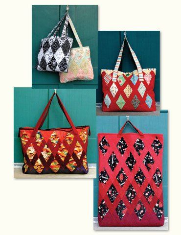 Irish Chain Quilted Jewel Totes
