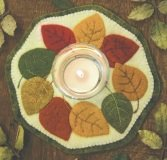 Little Stitchies - Fall Leaves Candle Mat