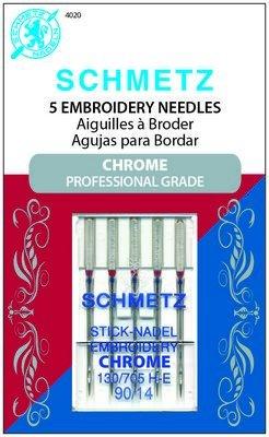 Schmetz Needle Chrome Embroidery 90/14