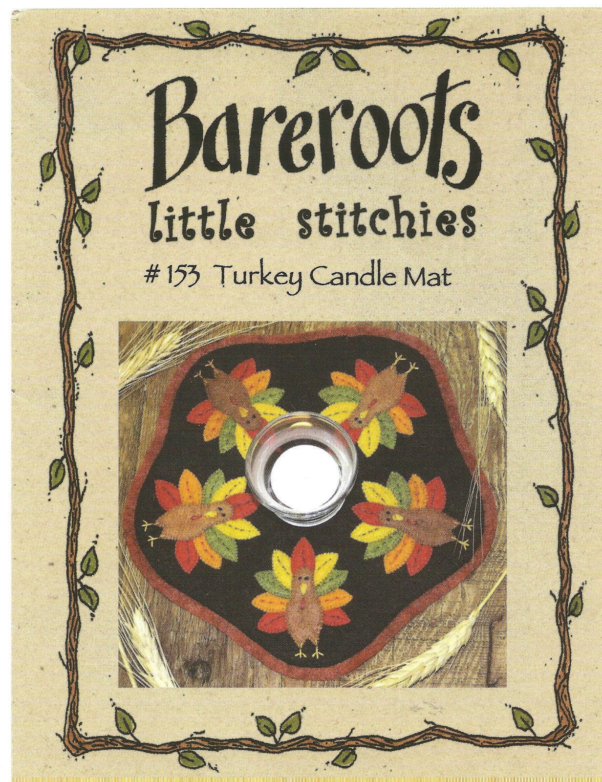 Little Stitchies - Turkeys Candle Mat