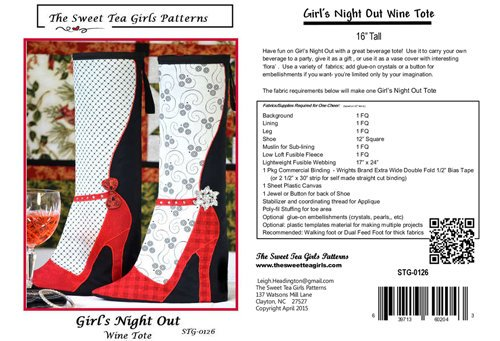 Girls Night Out Wine Tote