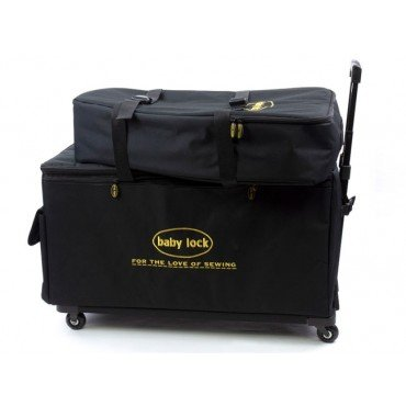 Baby Lock Large Machine Trolley Black Machine Luggage