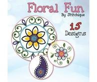 Floral Fun Embroidery CD