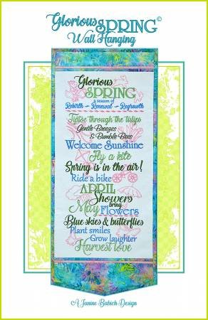Glorious Spring Wall Hanging - Embroidery CD