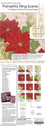 OESD Poinsettia Tiling Scene