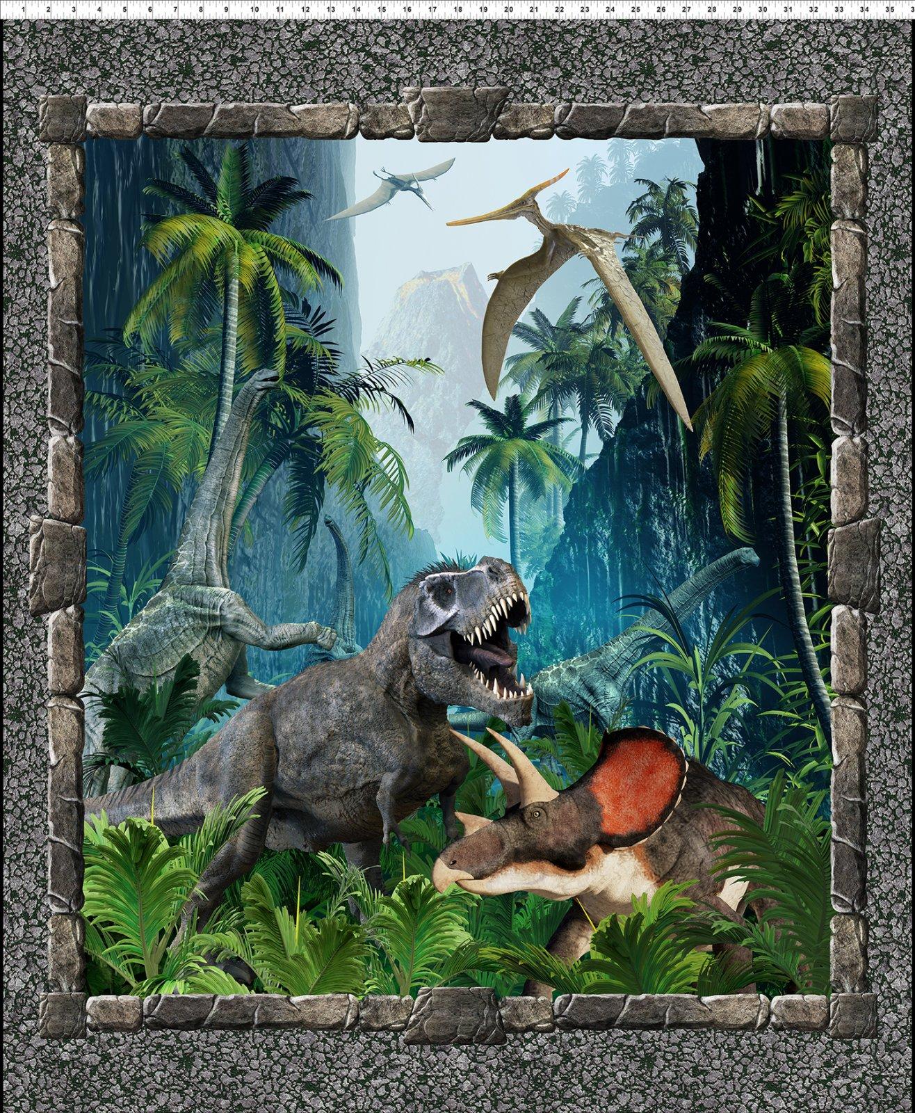Jurassic Dinosaur Large Panel Multi