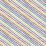 Veranda White Diagonal Stripe