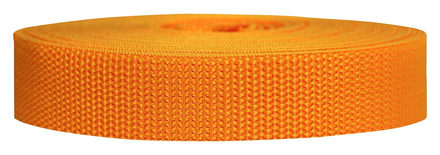 1 in. Heavyweight Polypropylene Webbing Athletic Gold belting