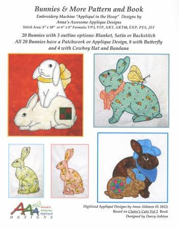 Bunnies and more pattern and book
