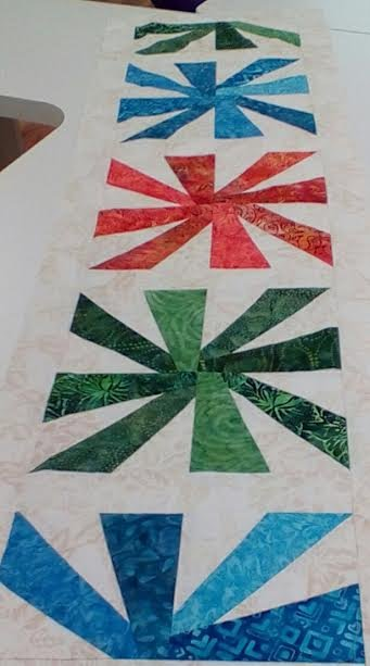 Batik Cartwheel Table Runner