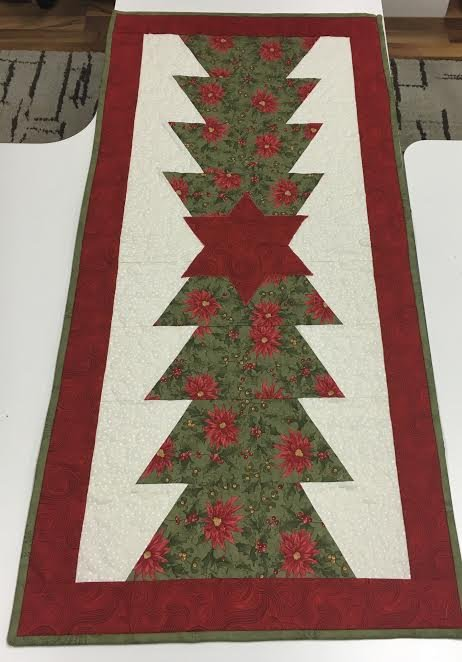 Half Hexi Christmas Table Runner