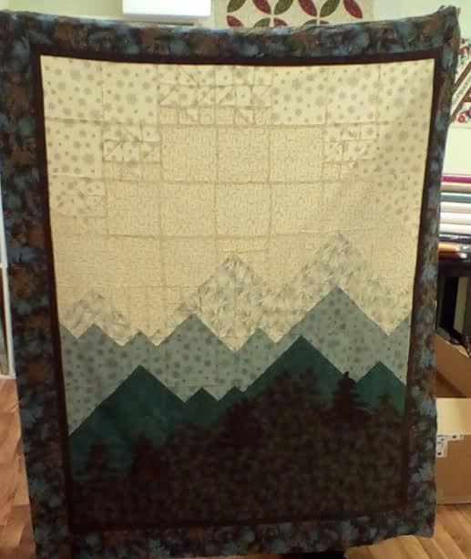 Mountain view Flannel Quilt
