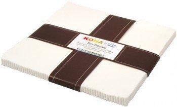 Kona Solids SNOW 10 squares
