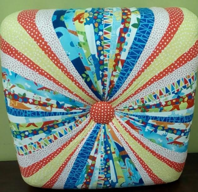 Colorful Square Tuffet